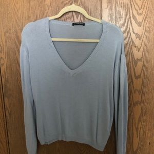Blue sweater from Brandy Melville.